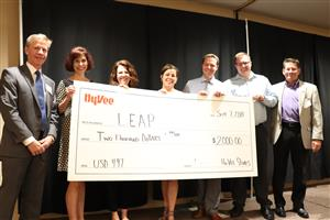 Hy-Vee presented a $2,000 check as part of its Dollars For Scholars program.