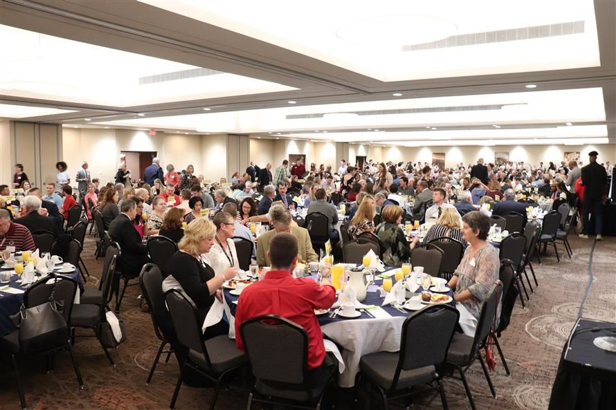 Nearly 600 guests filled the ballroom at the Doubletree by Hilton for the annual Breakfast event.