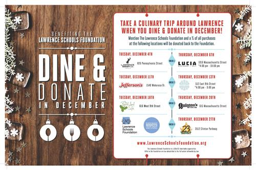 Dine and Donate in December