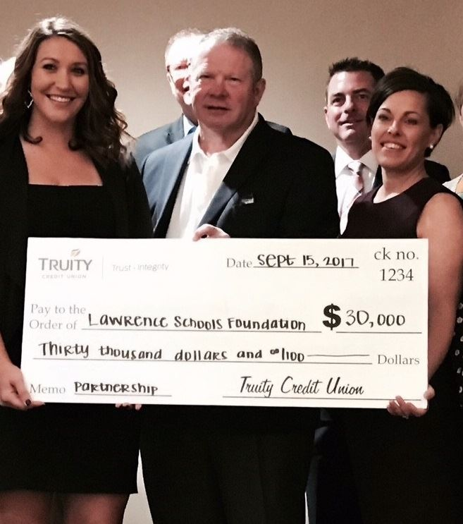 Truity Credit Union Makes $30,000 Donation To Lawrence Schools Foundation
