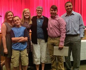 "The Arthur ""Mike"" Browning Scholarship presentation is a family affair."