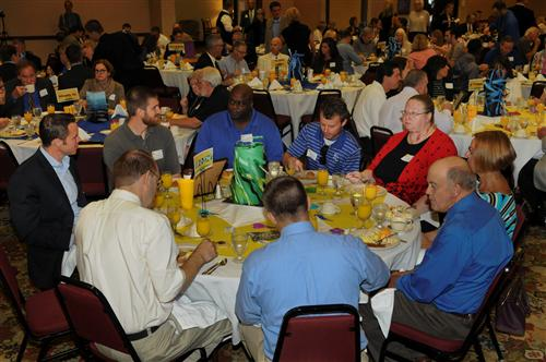 A great crowd enjoyed breakfast and supporting the Lawrence Public Schools.