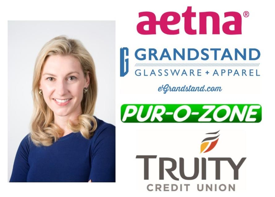 Karen Hough and major sponsors aetna, Grandstand, Pur-O-Zone and Truity Credit Union