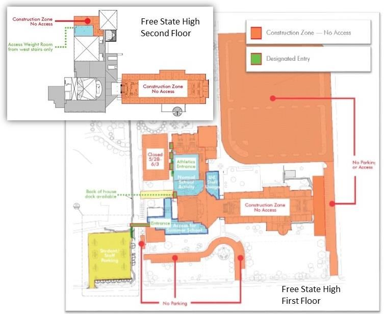 construction map of Free State High