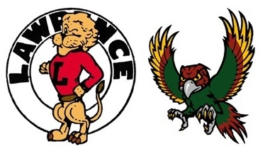Chesty Lion mascot and Free State Firebird mascot