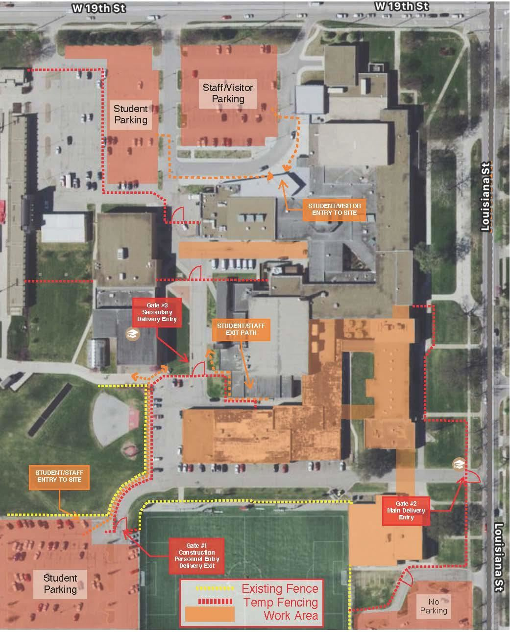 construction map of Lawrence High