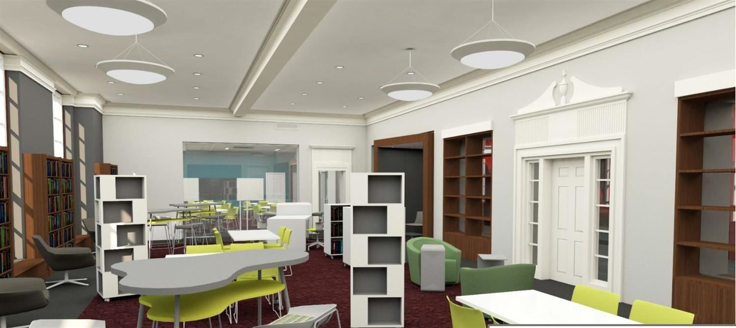 depiction of LMCMS media center renovations