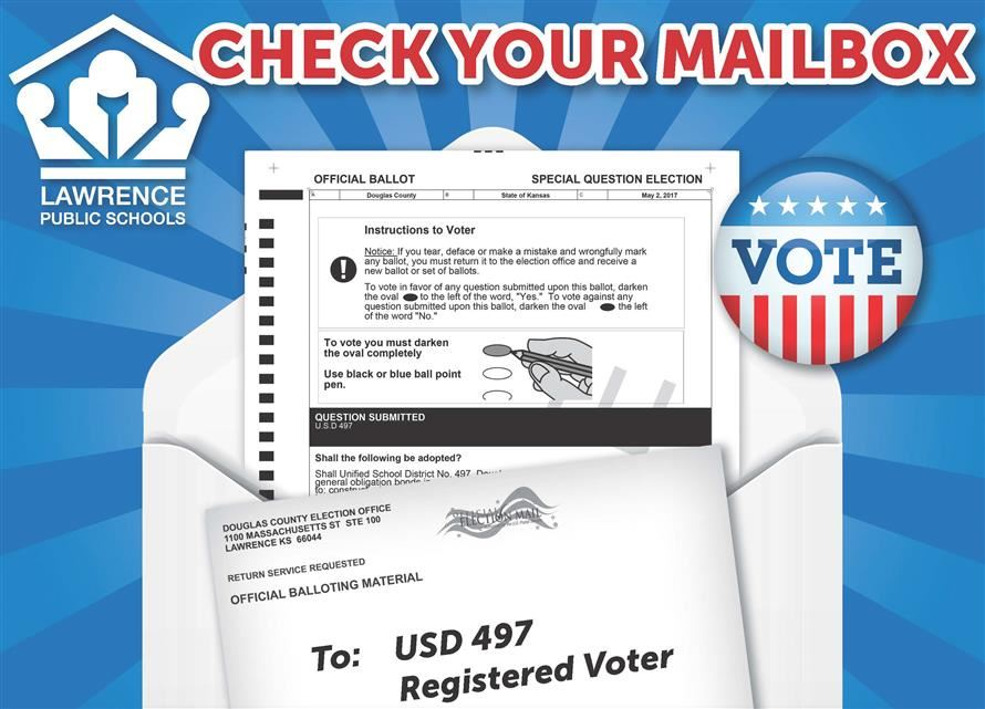 sample ballot, mailer, vote button