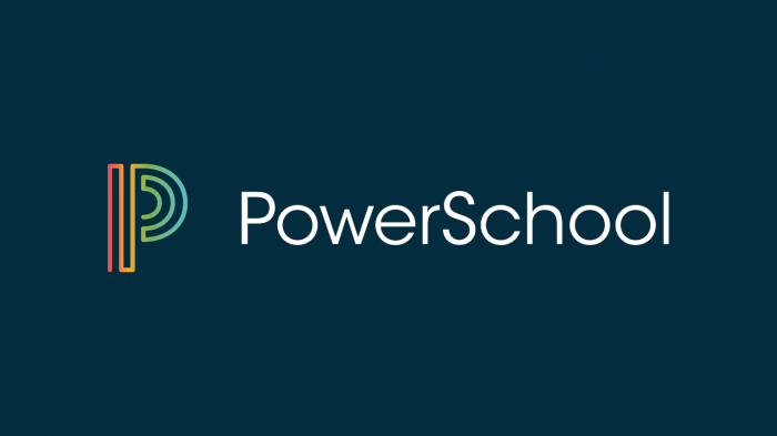 PowerSchool logo with multi-colored P