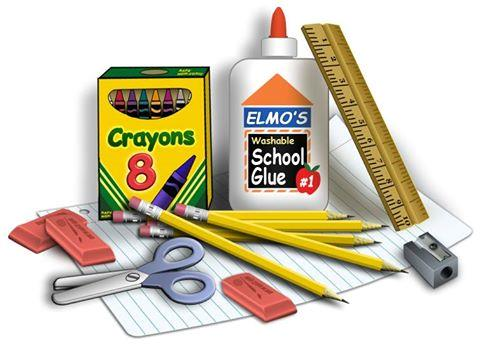 glue, crayons & ruler