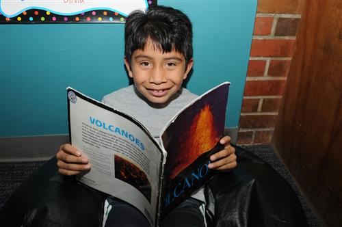 Elementary student reading