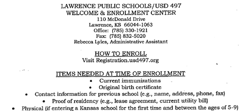 New to Lawrence Public Schools?