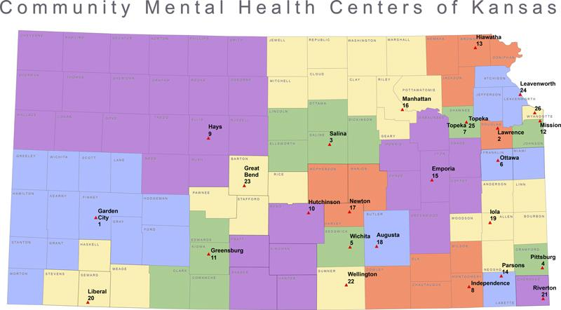 Community Health Centers Of Kansas Map