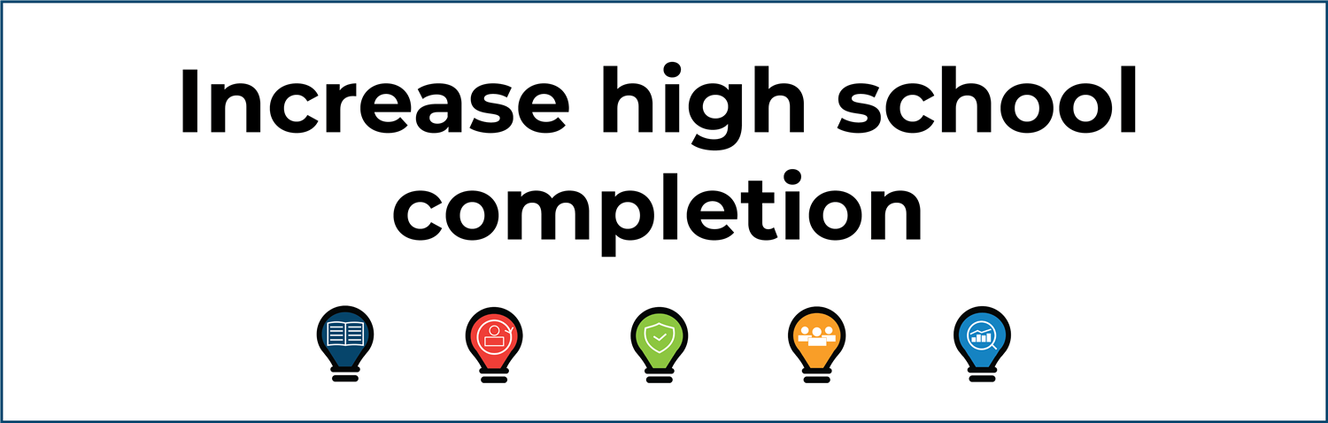Increase high school completion