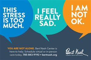 Mental health support is available. Bert Nash Mental Health Center: 785-843-9192