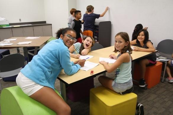 Students use a flexible space for collaborative learning