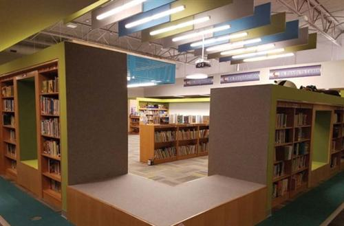 Deerfield's renovated library media center