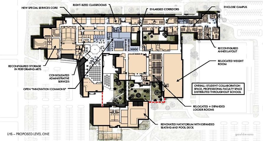 schematic design for Lawrence High School
